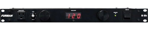 Furman M-8Dx Standard Level Power Conditioning, 15 Amp, 9 Outlets with Wall Wart Spacing, Pullout Lights, Digital Voltmeter